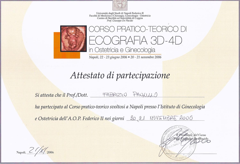 Corso Pratico Teorico di Ecografia 3D - 4D in Ostetricia e Ginecologia