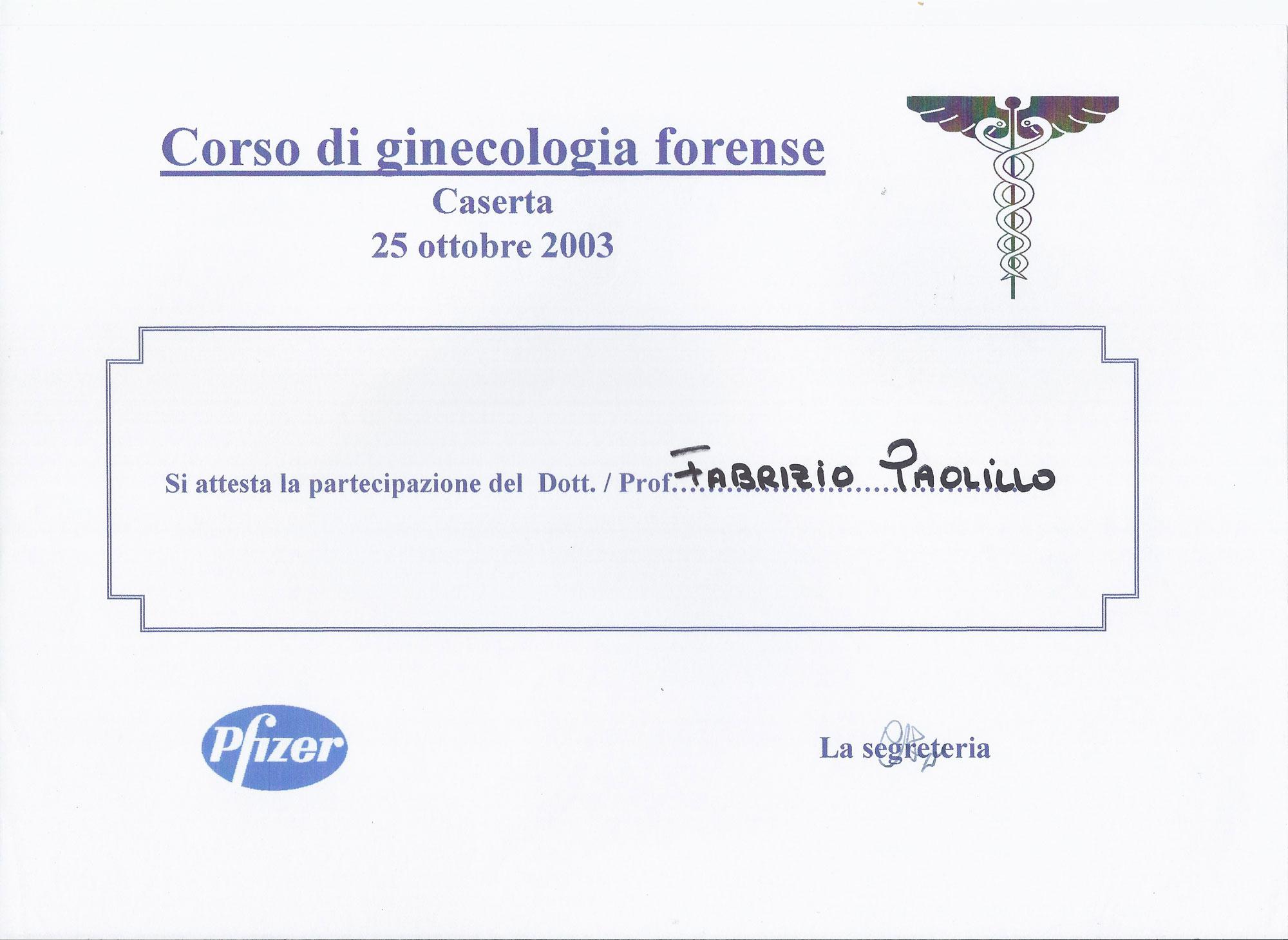 Corso di Ginecologia Forense