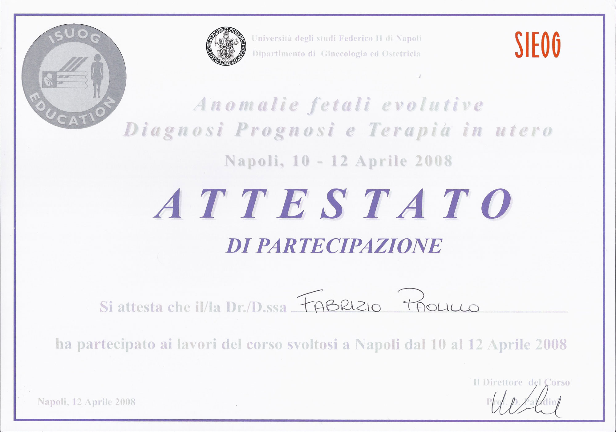 Anomalie Fetali Evolutive - Diagnosi Prognosi e Terapia in utero