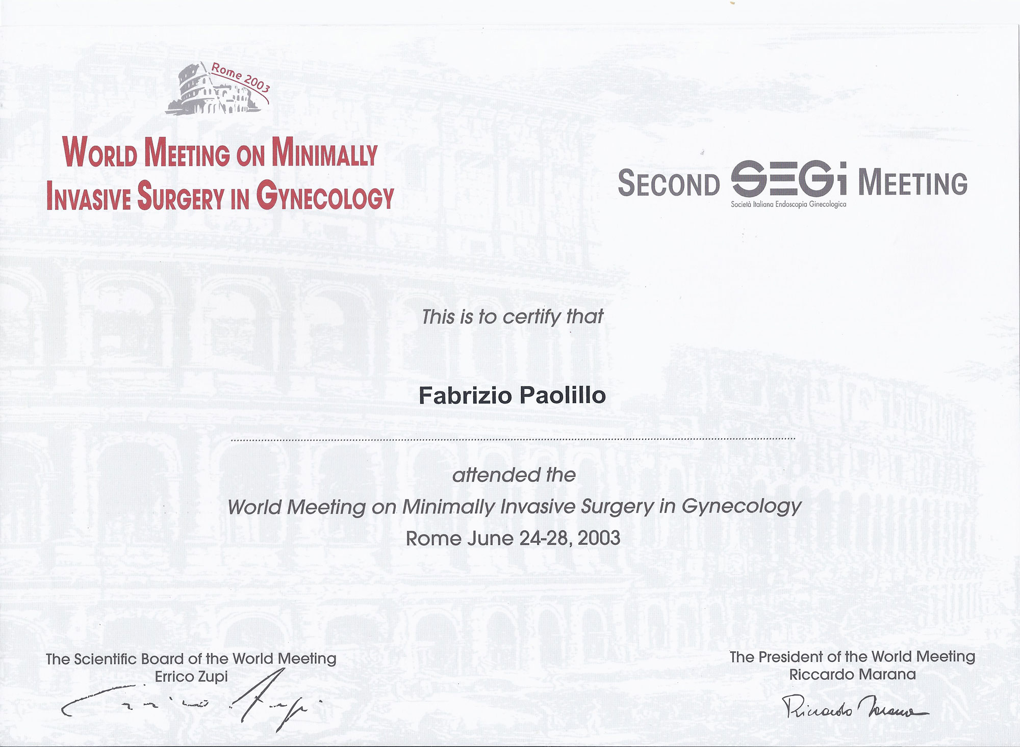 World Meeting on Minimally Invasive Surgery in Gynecology
