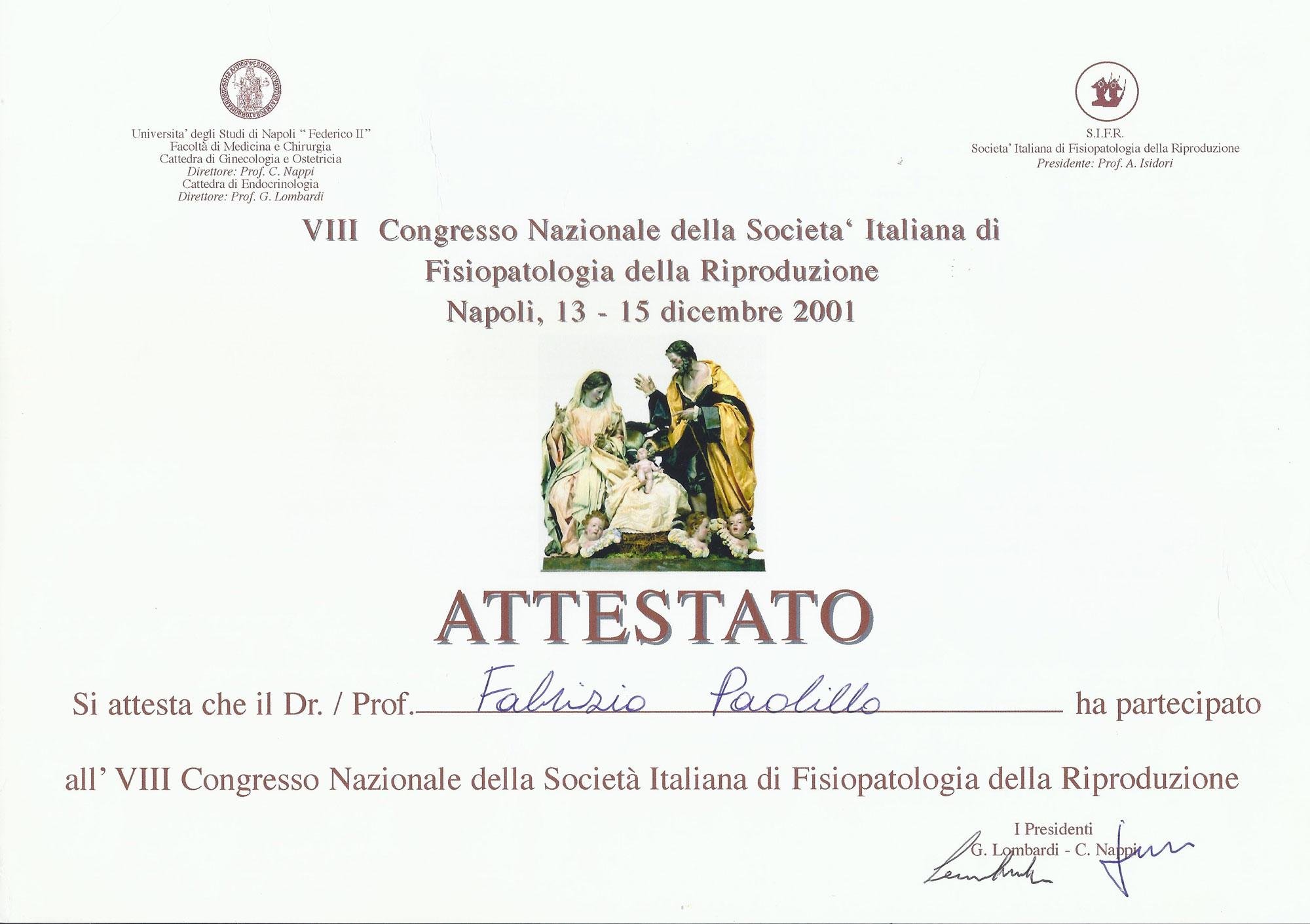 VIII Congresso Nazionale della Società Italiana di Fisiopatologia della Riproduzione