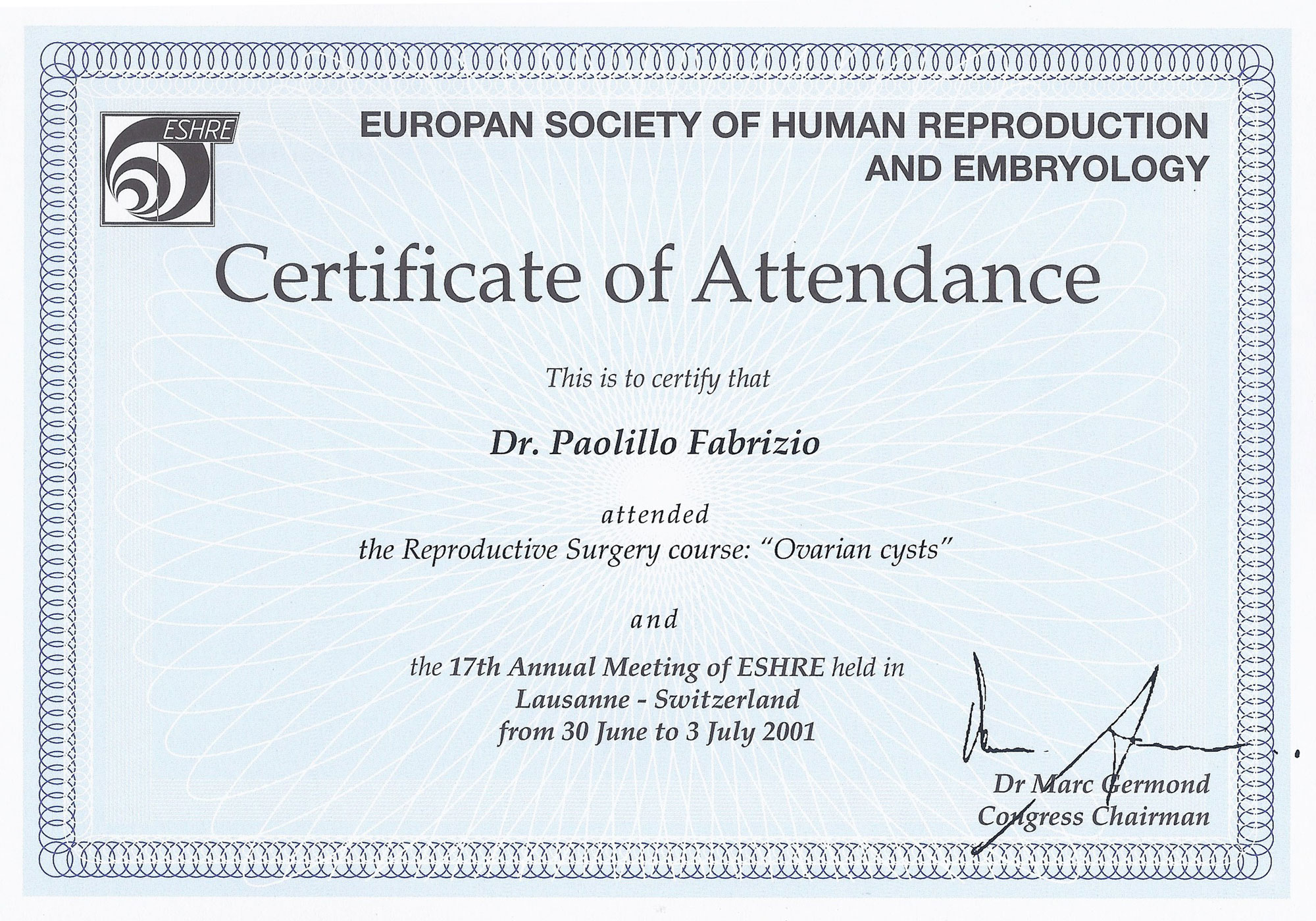 The Reproductive Surgery Course